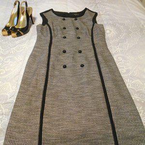TAHARI/LEVINE TWEED DRESS